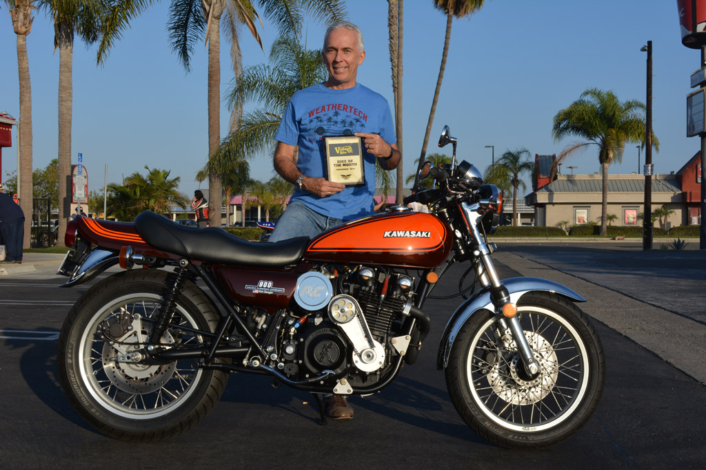 Ken Deagle of Huntington Beach with his 1980 Kawasaki KZ1000 Turbo