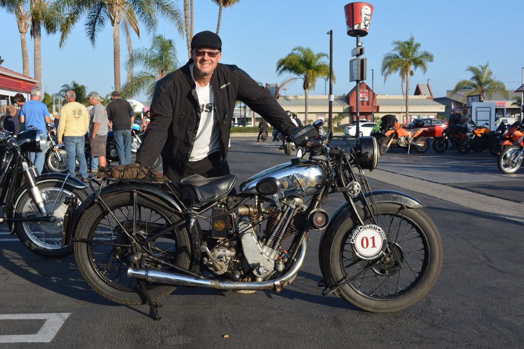 Todd Cameron of Monrovia with his 1930 BSA S30 Sloper