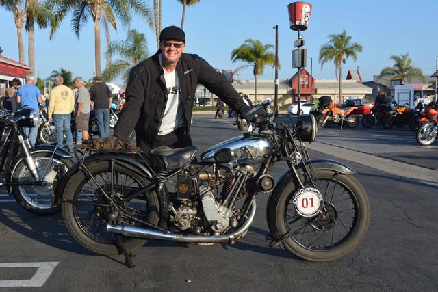 Todd Cameron of Monrovia 1930 BSA S30 Sloper