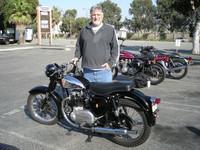 Bruce Balla and his 1955 BSA A7