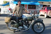 Angelo Tafarella and his 1935 Triumph T80 Tiger