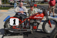 Bob Nichols and his 1940 Indian Sport Scout Flat Track Racer Jim Ottele Rider