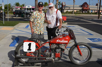 1940 Indian Sport Scout Flat Track Racer Jim Ottele Rider, Smokey Elford Chief Mechanic