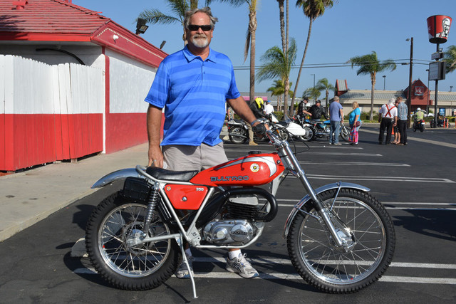 Kenny Easton and his 1977 Bultaco Sherpa 350T