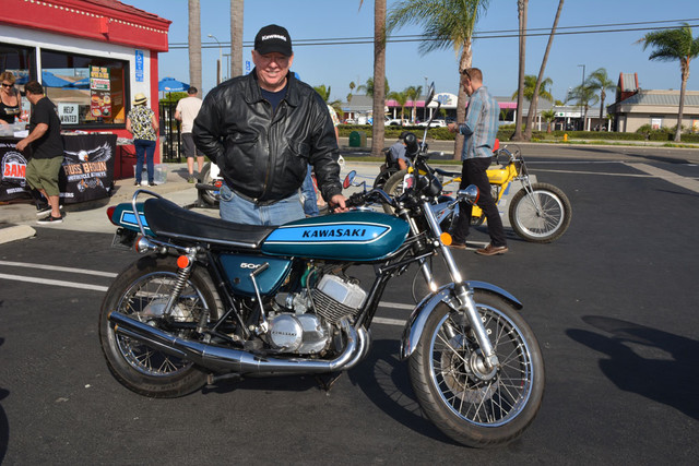 Don Reynolds and his 1977 Kawasaki H1 500