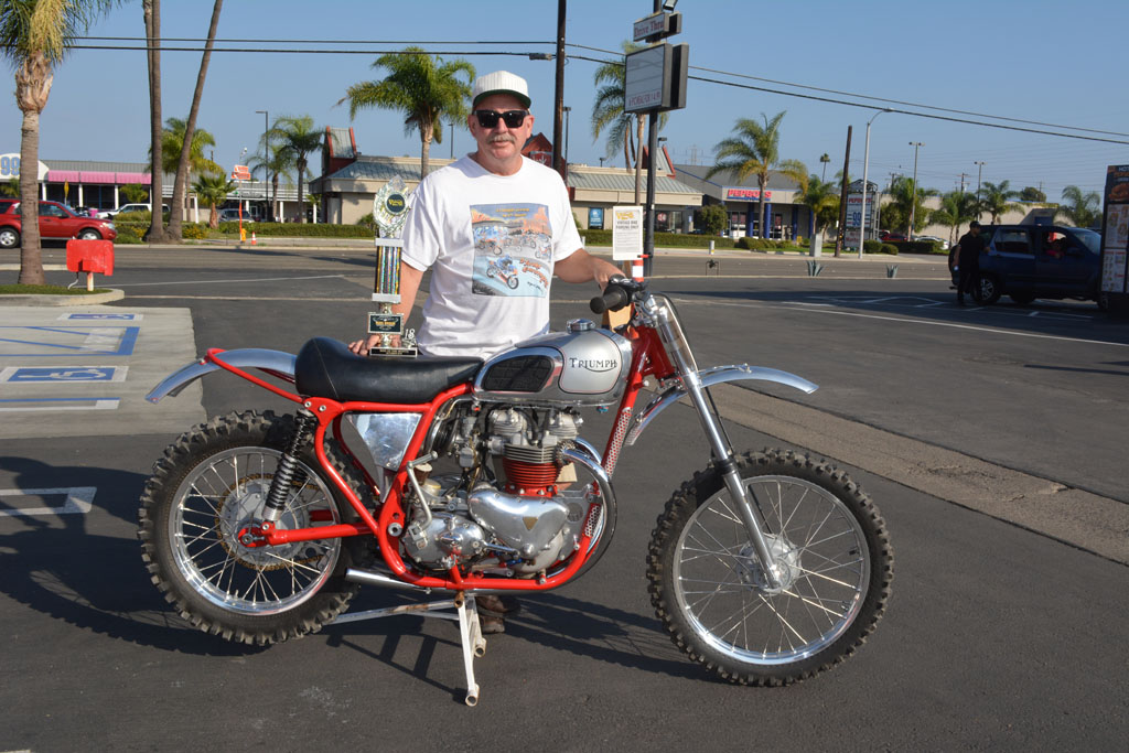 Randy Ressell with his 1961 Triumph/BSA 650