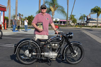 Robb Ezzell of Corona Del Mar with his 1951 BMW R25/2