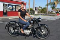 Selena Turner and the 1951 BMW R25/2