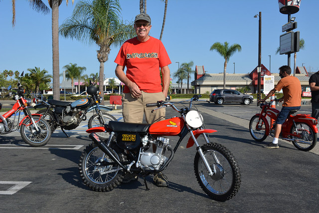 Doug Rickertsen with his 1976 Honda XR75