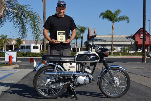 Owen Bishop of Laguna Beach with his 1968 Yamaha YAS1C 125