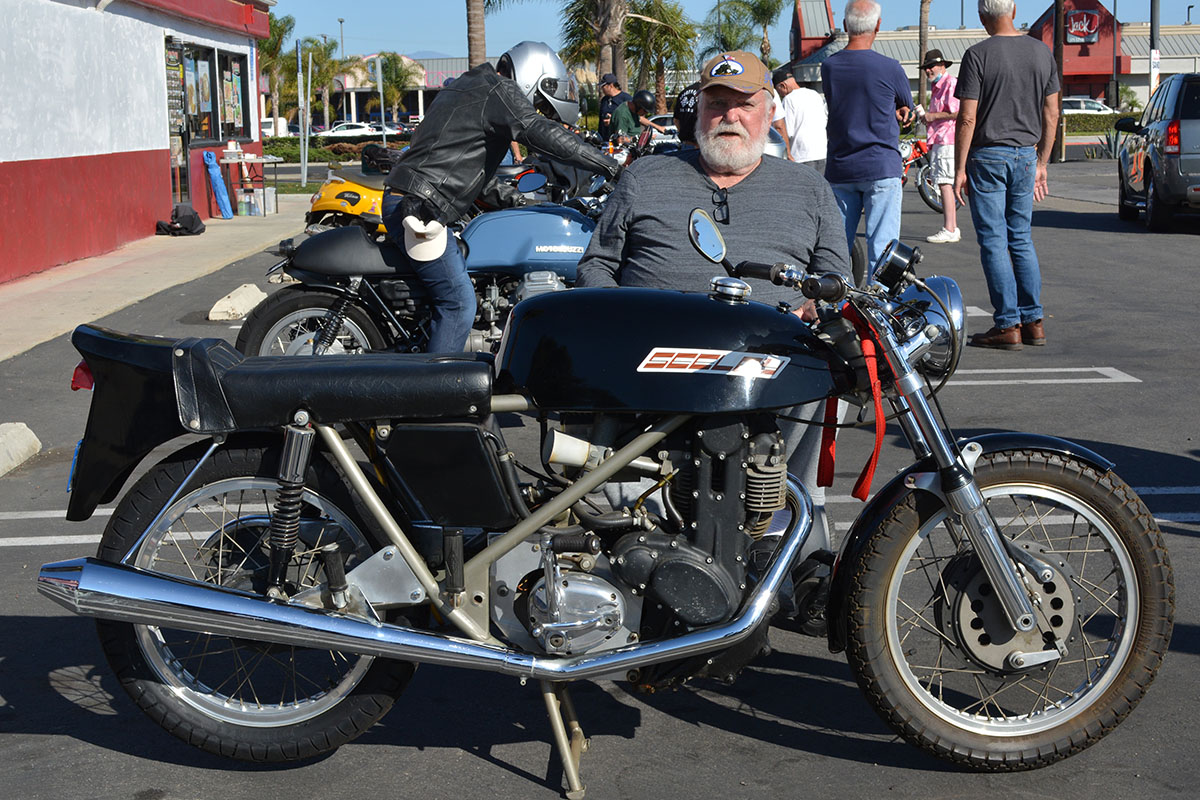 Dick Newby of Fountain Valley with his 1973 Seeley Condor