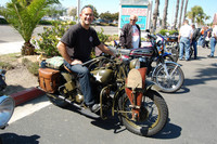 Rob Meyers with his 1942 Indian 741-B