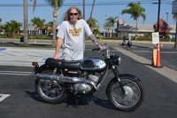 Bruce Ranyard with his 1967 Suzuki Hustler T250 Super Six