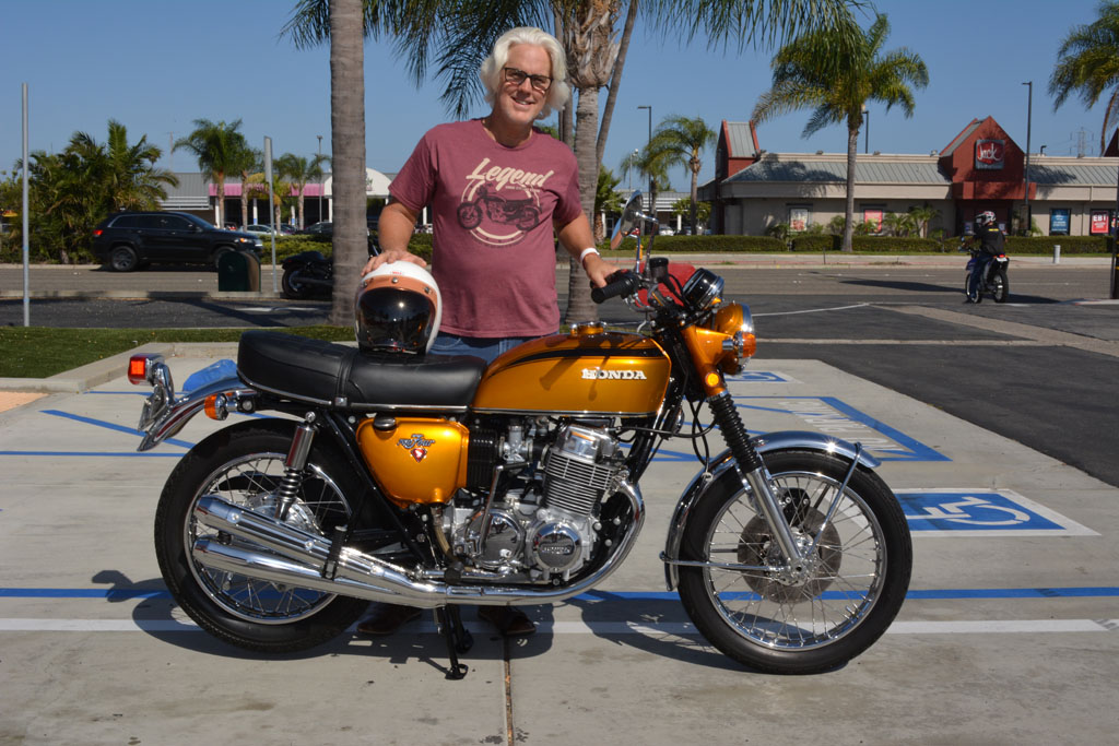 Robert Cybulski of Camarillo with his 1971 Honda CB750