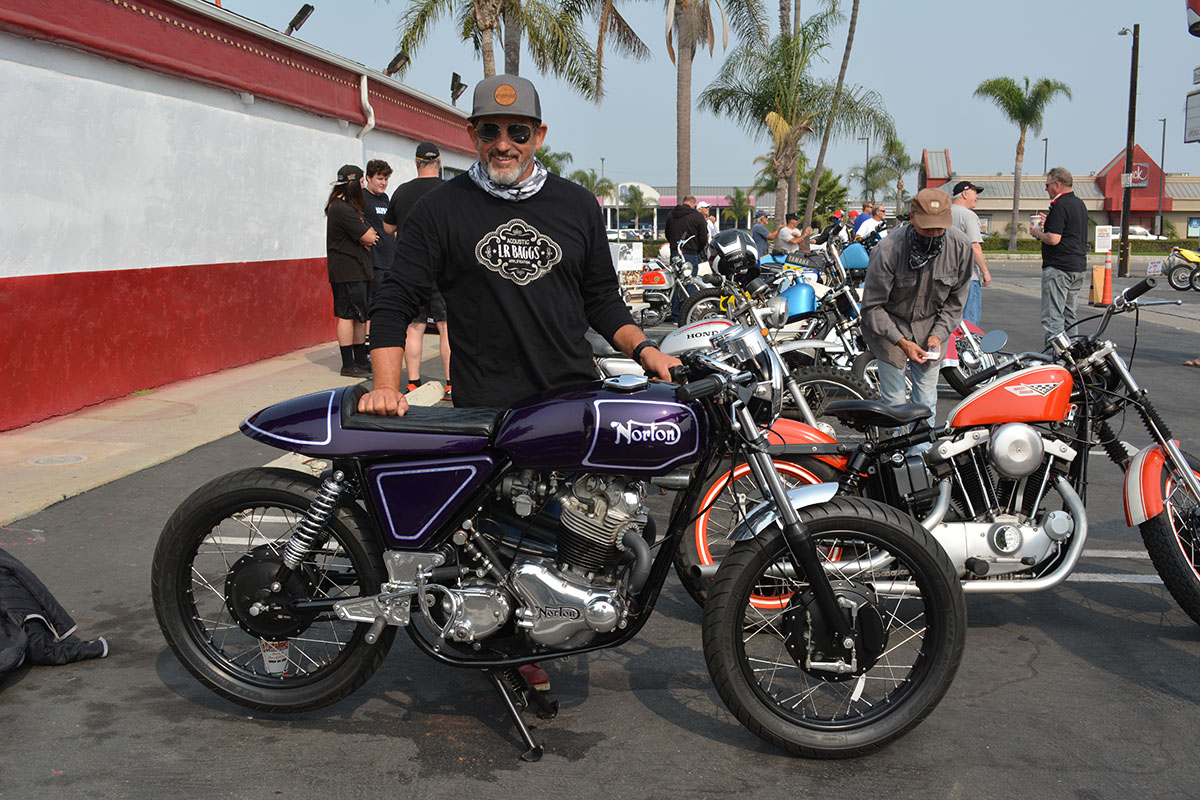 Vince Driscoll of Long Beach with his 1970 Norton Commando 750