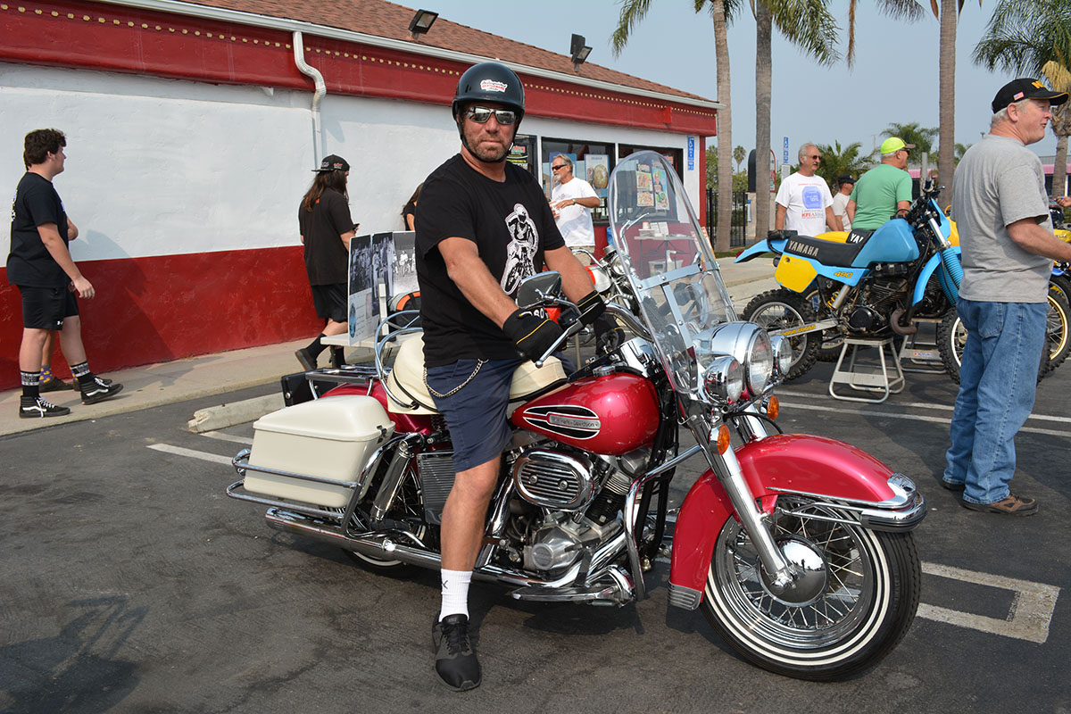 Frank Spitzer of Costa Mesa with his 1972 Harley Davidson Electo Glide