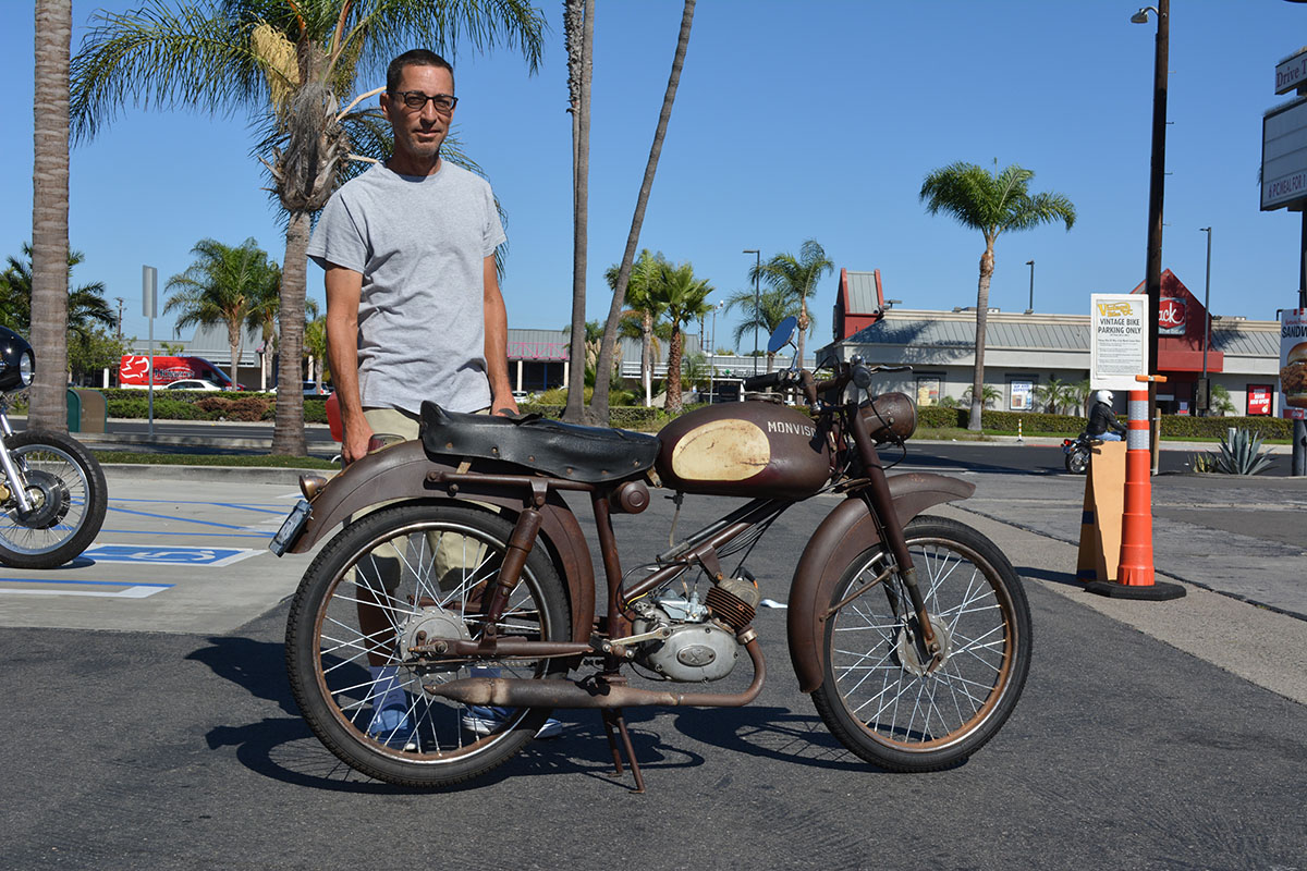 Baird Bergenthal of Midway City with his 1954 Monviso 50