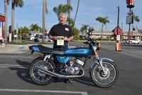 Steve Zahner of Yorba Linda 1975 Kawasaki H1 500