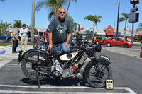 Jeff McCoy of Huntington Beach with his 1930 Scott Flying Squirrel