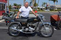 Lee Barden with his 1972 Norton Commando 750