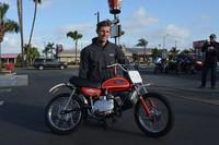 Andrew Skowron of Huntington Beach with his 1971 Yamaha JT1
