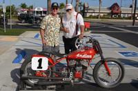 1940 Indian Sport Scout Flat Track Racer Jim Ottele Rider, Smokey Elford Chief Mechanic
