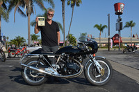 Mark Abrahams with his 1968 Egli-Vincent